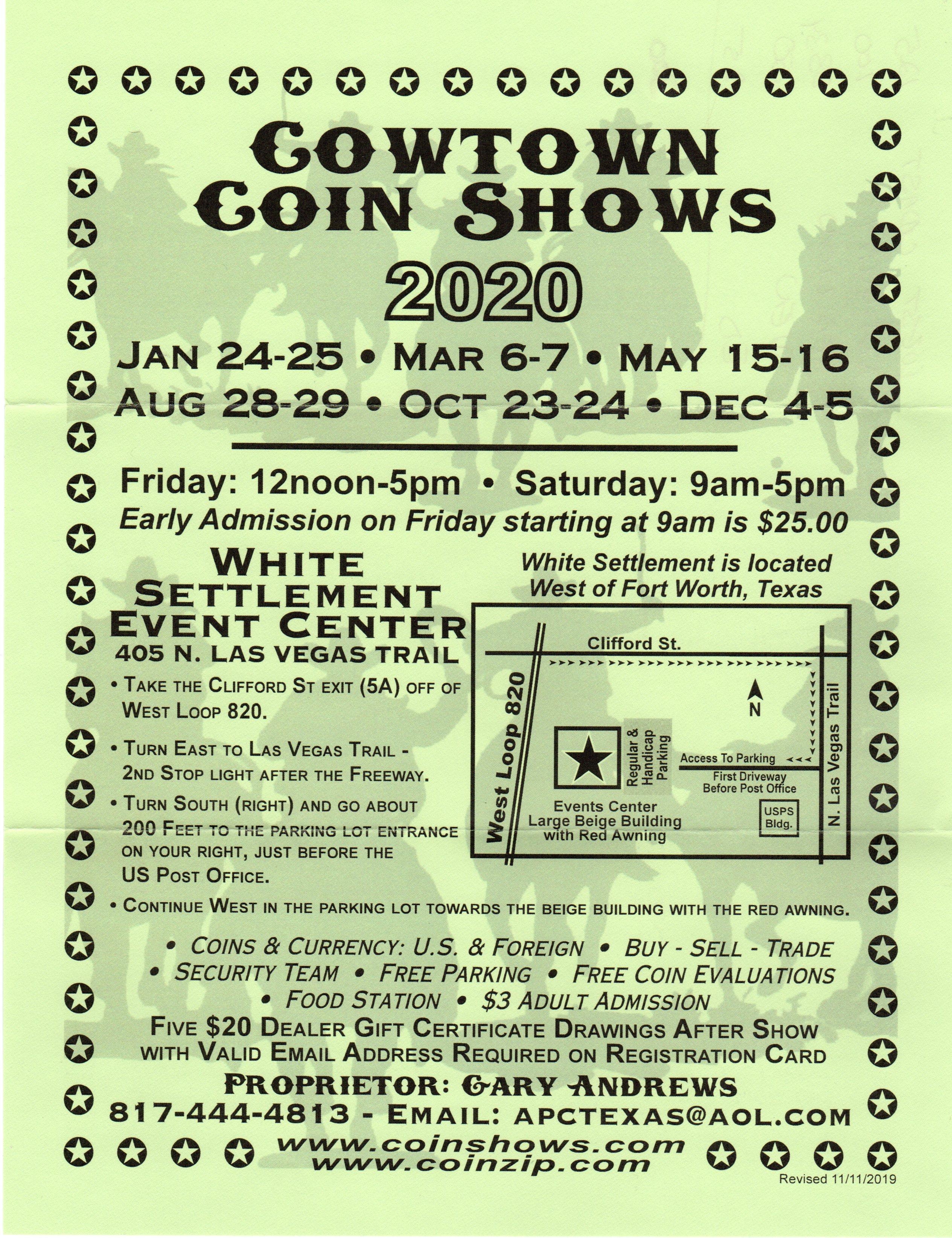 cowtown coin show